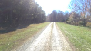 Unpaved Road.  Thanks, MapMyRide